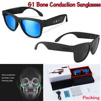 G1 Bone Conduction Headset Bluetooth Smart Control Sunglasses Polarized Glass LC