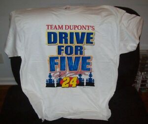 JEFF GORDON #24 DUPONT 2004 DRIVE FOR FIVE SHIRT CHASE AUTHENTICS SHIRT SIZE XL