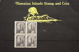 140 HAWAII #47 UNUSED ISSUED 1883 BLOCK OF FOUR