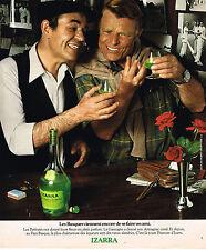 PUBLICITE ADVERTISING 015  1977  IZARRA  liqueur Basque