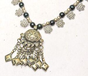 Vintage Banjara Boho Kuchi Tribal Afghan Rare Handmade Glass Bead Gypsy Necklace
