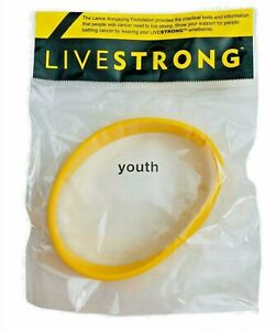 LIVESTRONG Silicone Bracelet Wristband Size YOUTH New us package