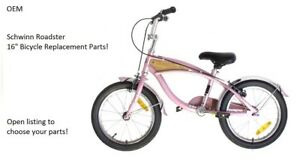 """Schwinn Roadster 16"""" PINK Bicycle Replacement Parts: Open to choose your part!"""