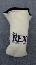 Rex Hospital Open Golf Club Blade Putter Head Cover Head Cover Ame White