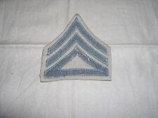WW2 USMC staff sergeant chevron forrest wool on foldover twill