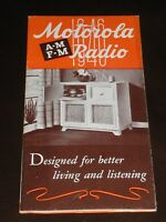 1946 MOTOROLA RADIO PHONOGRAPH Sales Brochure Betty Grable Full Product Lineup
