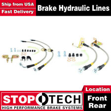 Stoptech Front + Rear Stainless Steel Brake Lines For 2005-2009 Ford Mustang