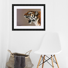 Roaring Tiger Original Drawing In Pastel Pencil