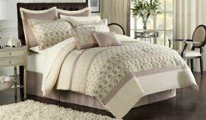 Ellison 12 Pc Bed-in-a-Bag Set ~ Evian Neutral ~ Queen 90 x 92 **NEW**