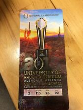 2016 National Championship Ticket Stub Alabama Crimson Tide vs. Clemson Tigers