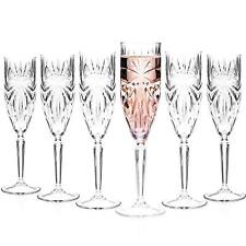 RCR 26327020006 Oasis Crystal Champagne Flutes Glasses, 160 ml, Set of 6