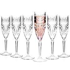 RCR 26327020006 Oasis Crystal Champagne Flutes Glasses 160 Ml Set of 6