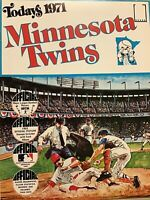 TODAY'S 1971 OFFICIAL MLB BASEBALL STAMPBOOK MINNESOTA TWINS RARE STAN WILLIAMS