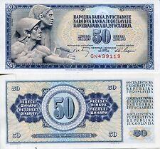 SFRJ Yugoslavia 1968 50 Dinara Socialist Yugoslav Communist Banknote UNC