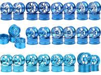 Blue Wheel Rims Diameter:52mm Width:26mm Metal 1/10 RC Sakura HSP Tamiya Traxxas