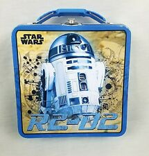 Star Wars R2 D2 The Force Awakens Metal Lunchbox Tote Carrier Tin Box Co.