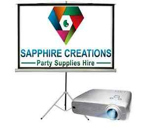 """Epson HD Projector and 120"""" Screen & Stand Hire"""