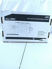 Combo Exit Signemergency Light Led 2 Head Red Letters Apc7r
