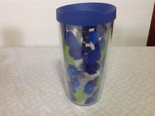 VINTAGE TERVIS 16 oz. TUMBLER, WITH BLUE FLOWERS