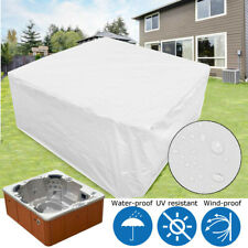 Spa Cover Cap Hot Tub Polyester Fabric  UV Waterproof Protector 215x215x90cm