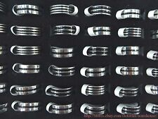 US SELLER-36 rings stainless steel men's rings band rings wholesale bulk lot