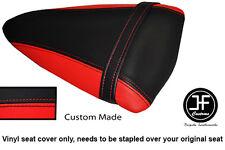 RED AND BLACK VINYL CUSTOM FITS KAWASAKI NINJA ZX6R 07-08 REAR SEAT COVER ONLY