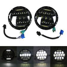 """150W 2x7"""" Round Total CREE DRL LED Headlights Fit JEEP Wrangler JK TJ YJ 97-17"""