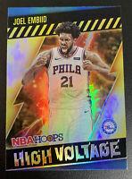 JOEL EMBIID 2021 NBA Hoops HIGH VOLTAGE Holo Foil SP PSA 9/10?