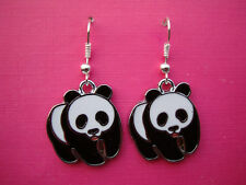 FUNKY PANDA BEAR EARRINGS WILDLIFE ANIMALS CUTE RETRO SWEET CARTOON ZOO CHARM