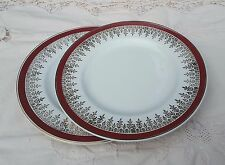 ALFRED MEAKIN - GLO WHITE 'ROYALTY' TEA PLATES [x 2]