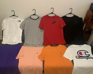 Pole, Nike, Champion, etc T-shirt lot size M/L