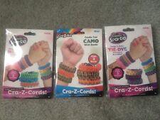 (3) Cra-Z-Art Shimmer 'N Sparkle & Camo Design & Make Paracord Bracelet Kits