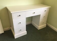 Painted Double Pedestal Dressing Table / Desk - 7 drawers - Edwardian style