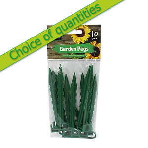 GARDEN PEGS - Kingfisher / Shed Mates - Packs of 10 and Multi Buy Discounts