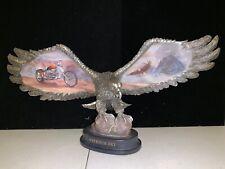 "Bradford Freedom Sky Ride Hard, Live Free Harley-Davidson Eagle Figurine ""A1227"""