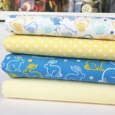 Pascua Bunny & Chick 4 Pieza Cuarto Gordo paquete 100% Algodón para Coser/Craft