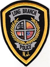Long Branch yellow Police Patch New Jersey NJ NEW !!!