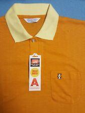 New vintage 70s Sears Knit Sport Rockabilly Mens large mod Polo Shirt pocket Nos