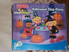 Fisher Price Little People Halloween Sing Along 2 CD set spooky songs sounds NIP
