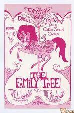 Warlocks Family Tree Handbill Crystal Ballroom 1967 Apr 14 Portland