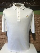 Masters Collection Augusta Mens Size Large L Golf White Polo Shirt Short Sleeve