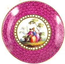 Antico 19TH secolo porcellana tedesca Meissen piattino piatto