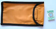HEAVY DUTY ORANGE NYLON TOOL KIT POUCH HOOK:LOOP FASTENER. FOR LAMBRETTA SCOOTS