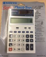Vintage Sanyo SOLAR DESKTOP Calculator CX 2630 NEW SEALED IN ORIGINAL BOX