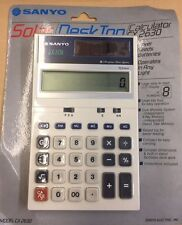 Vintage Sanyo SOLAR DESKTOP Calculator CX 2630 NEW SEALED IN ORIGINAL BOX