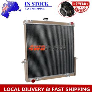 4 ROW Aluminium Radiator For 02-09 Nissan Y61 Gu 3 4 5 4.2L Patrol Diesel 03 04
