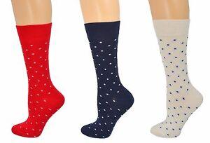 Sierra Socks Cotton Small Dot Pattern Crew Casual Women's 3 Pair Pack Socks W910