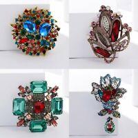 Retro Rhinestone Crystal Pearl Flower Wedding Bridal Bouquet Brooch Pin Jewelry