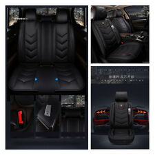 Pu Black & Red 5 seats Seat Cover 6D Luxury Car Seat Covers for Mercedes Benz