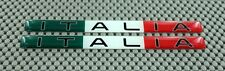 ITALY ITALIA WIDE FLAG 3D DOMED Decal Sticker PAIR Small